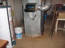 rusted out furnance from